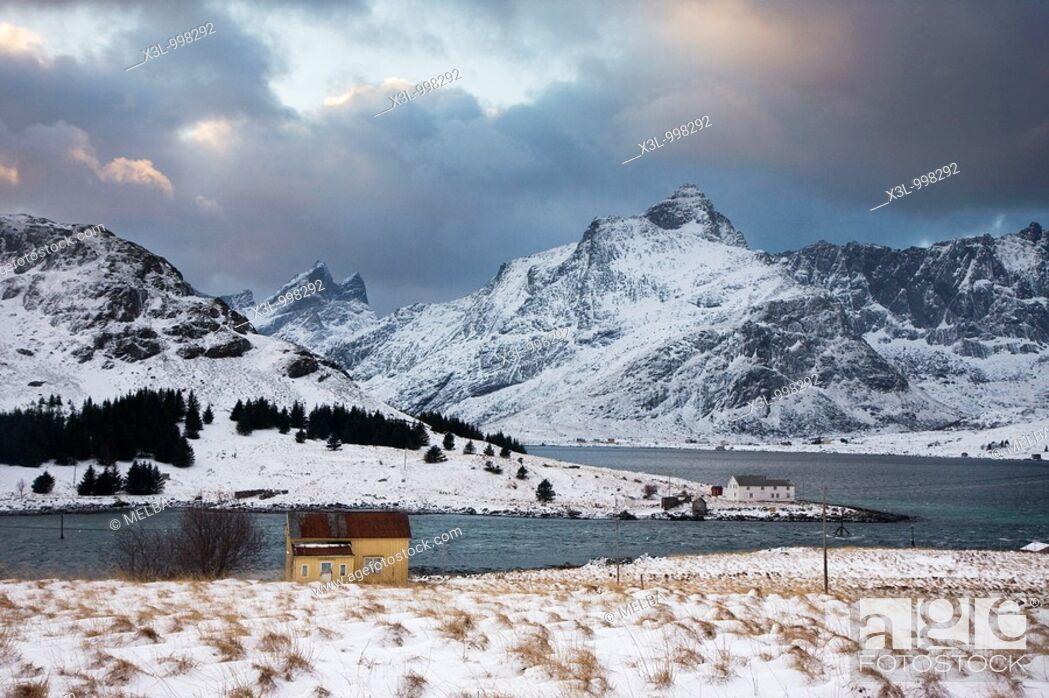 Stock Photo: Near Reine  Lofoten islands  Norway.