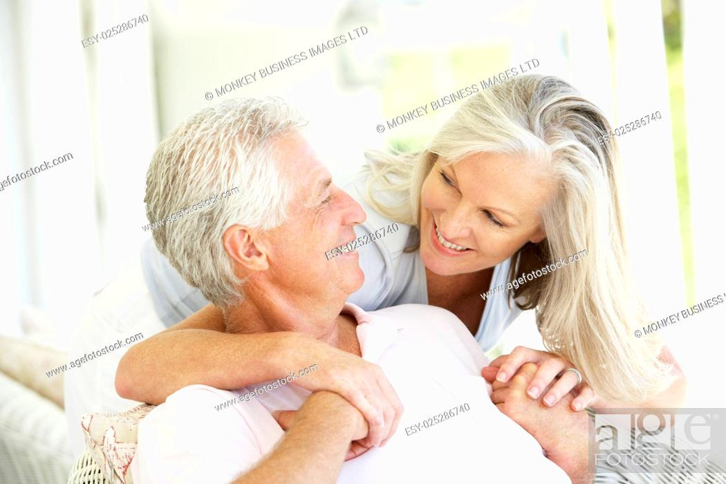 Stock Photo: Senior Couple Relaxing Together.
