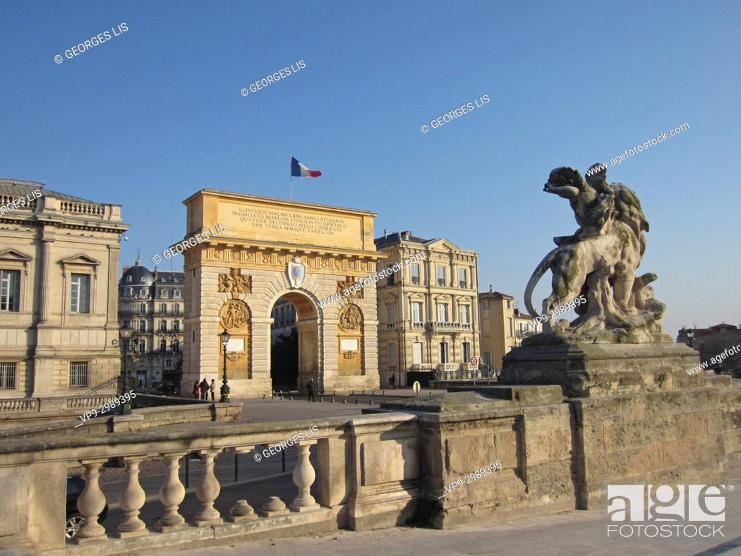 Imagen: Triumphal arch; Peyrou promenade; Montpellier.