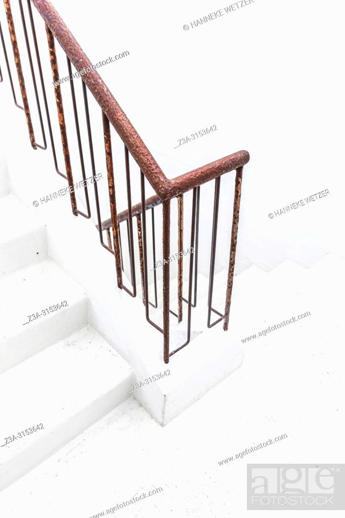 Stock Photo: Staircase at the Marshall House in Reykjavik, Iceland.