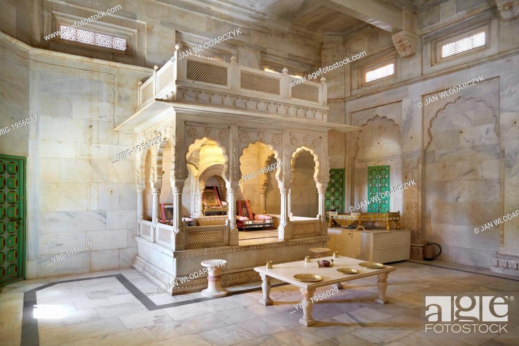 Stock Photo: Mahraja Jawant Singh II tomb, Jaswant Thada Mausoleum, Jodhpur, Rajasthan, India, Asia.