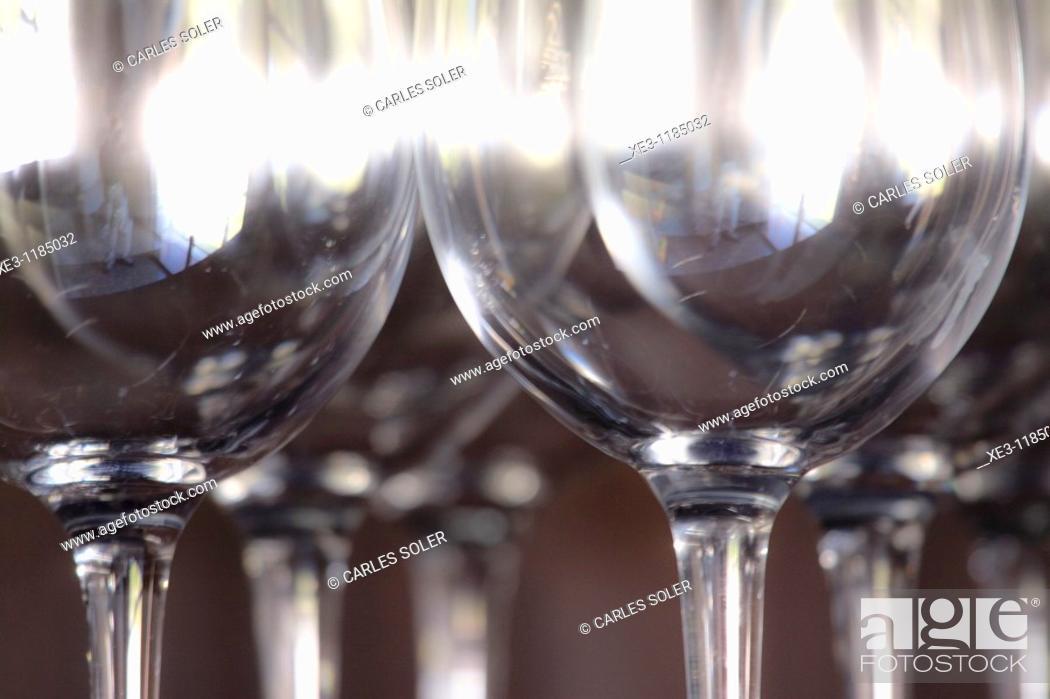 Stock Photo: Wineglasses.