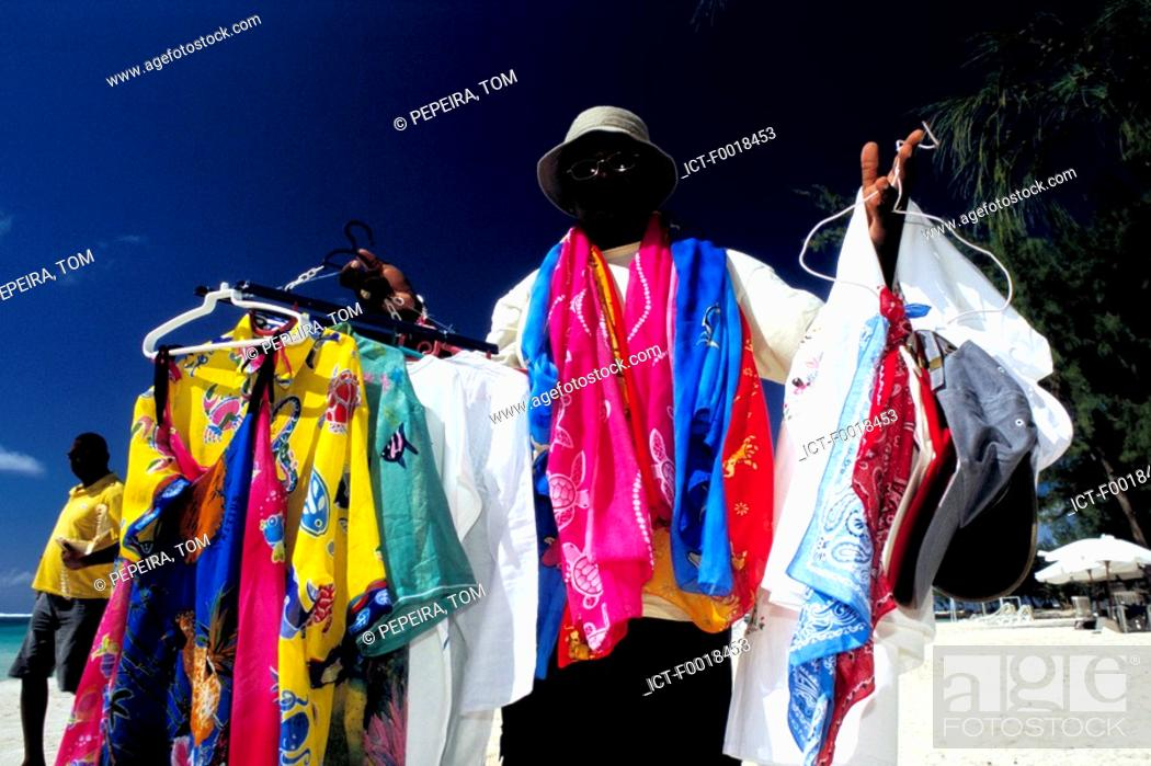 Stock Photo: Mauritius, beach seller.