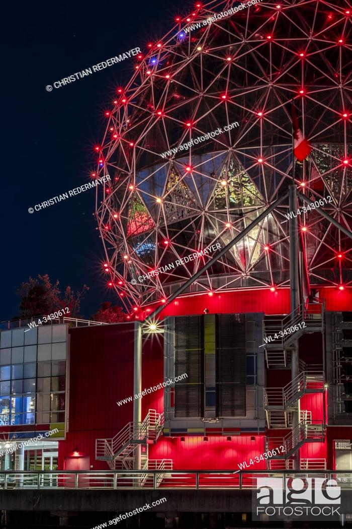 Stock Photo: Science World in Vancouver, Science World in Vancouver, British Columbia - Canada.