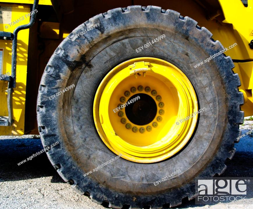 Stock Photo: Close up to tire.