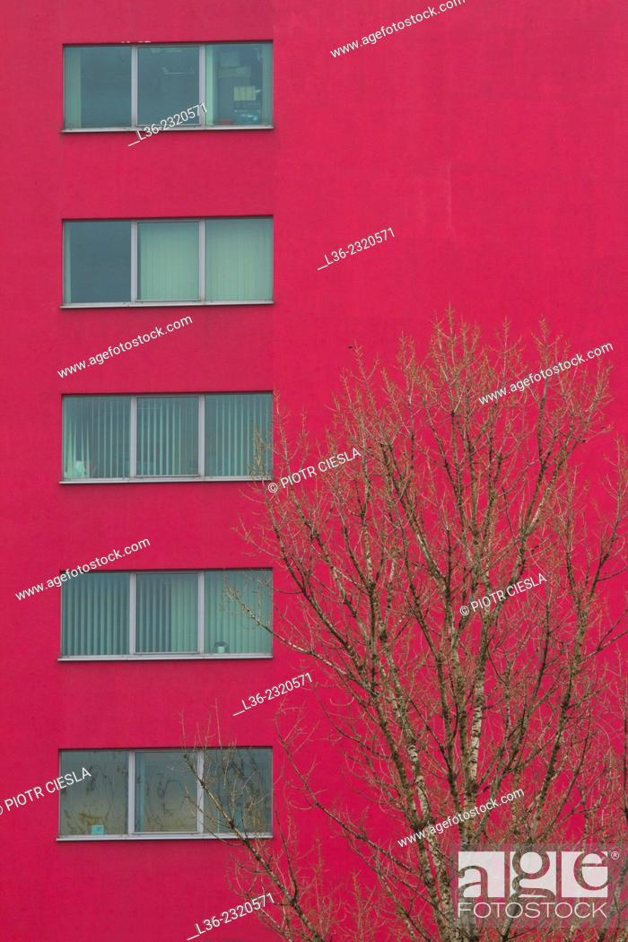 Stock Photo: Red house. Warsaw. Poland.