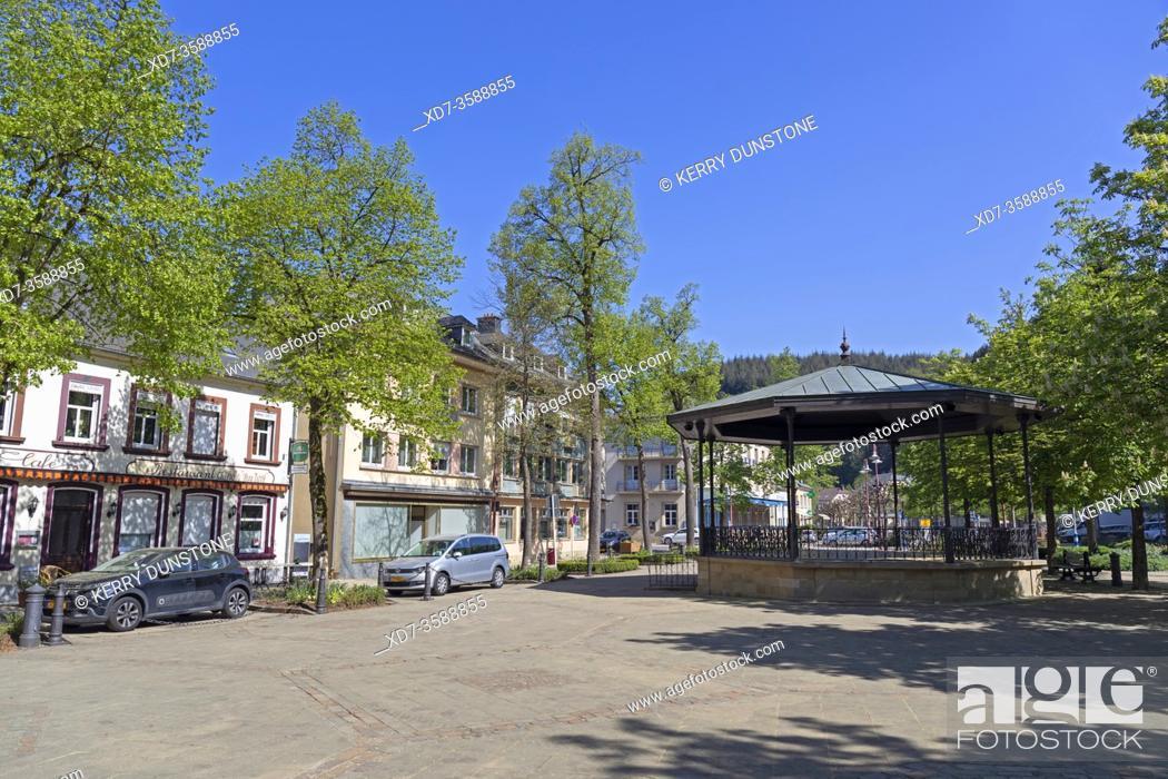 Stock Photo: Europe, Luxembourg, Larochette, Place-Bleiche.