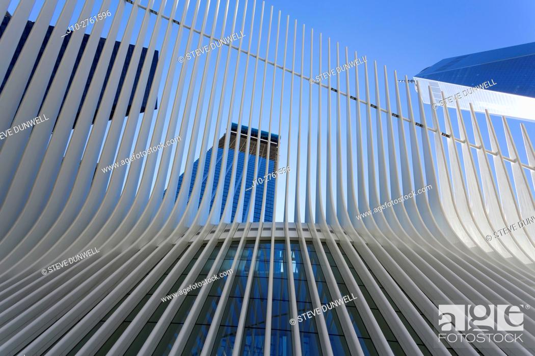 Stock Photo: Oculus (architect = Calatrava), World Trade Center, New York City, USA.