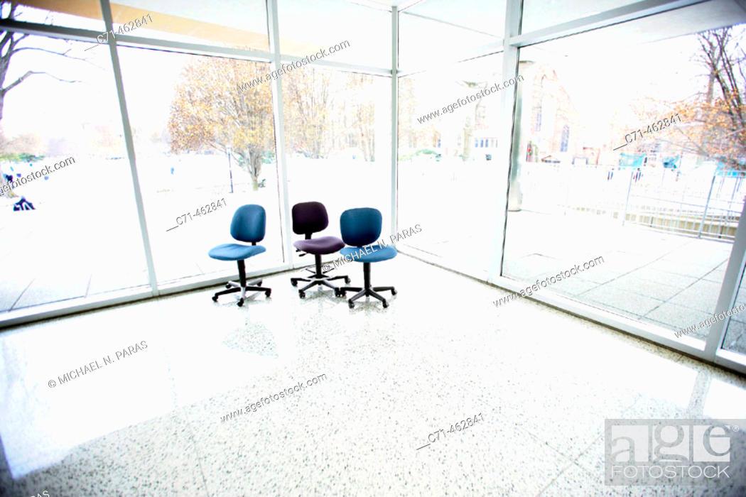 Stock Photo: Three chairs.