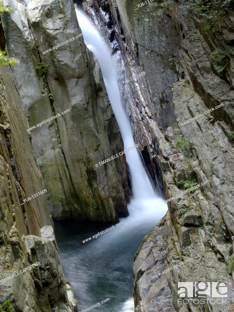 Stock Photo: Rio Pogallo river, Province of Verbano-Cusio-Ossola, Piedmont, Italy.