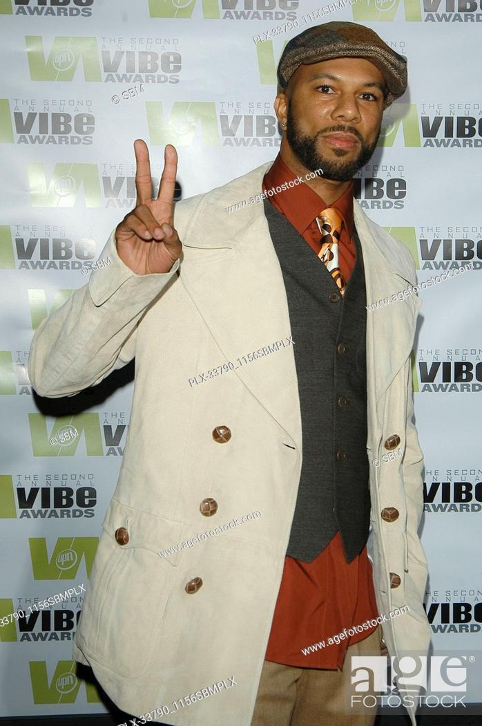 """Stock Photo: Common at The 2nd Annual """"""""Vibe Awards On UPN"""""""" - Arrivals held at the Barker Hangar in Santa Monica, CA. The event took place on Monday, November 15, 2004."""