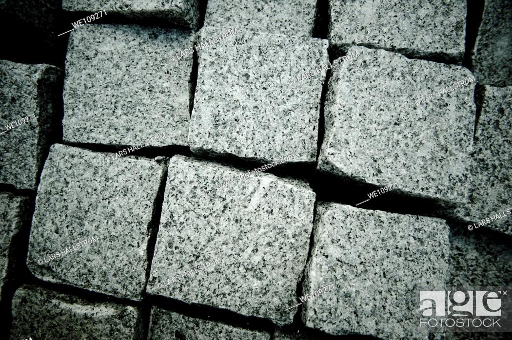 Stock Photo: Close-up of Cobblestones.