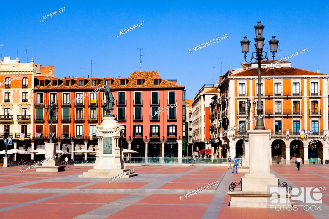 Stock Photo: Spain - Castile and Leon - Valladolid - Plaza Mayor.