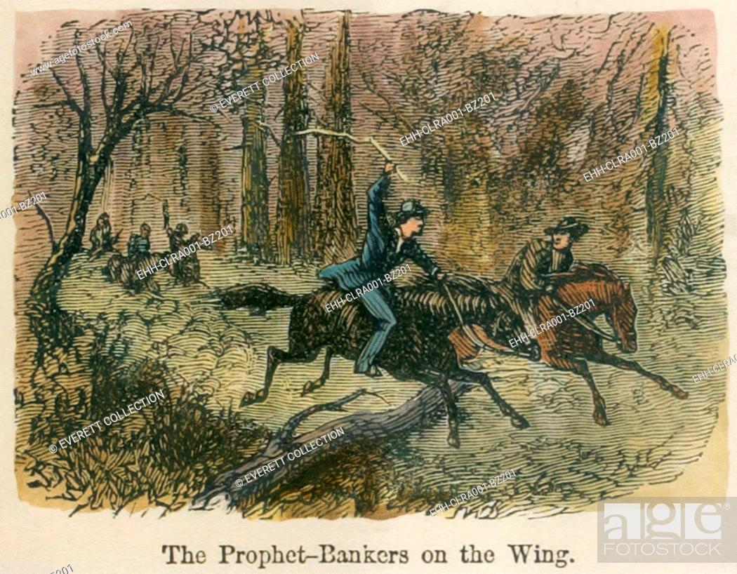 Imagen: Prophet bankers on the wing. Joseph Smith and Sidney Rigdon leaving Kirtland after their illegally operated bank failed. Smith was fleeing his debts and an his.