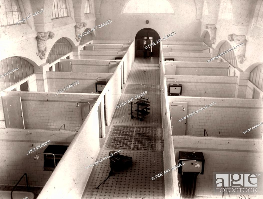 Stock Photo: Interior view of the Clinic of Balneotherapy, Mineralnye Vody, Russia, 1910s. Mineralnye Vody is one of several spa resorts in the northern Caucasus.