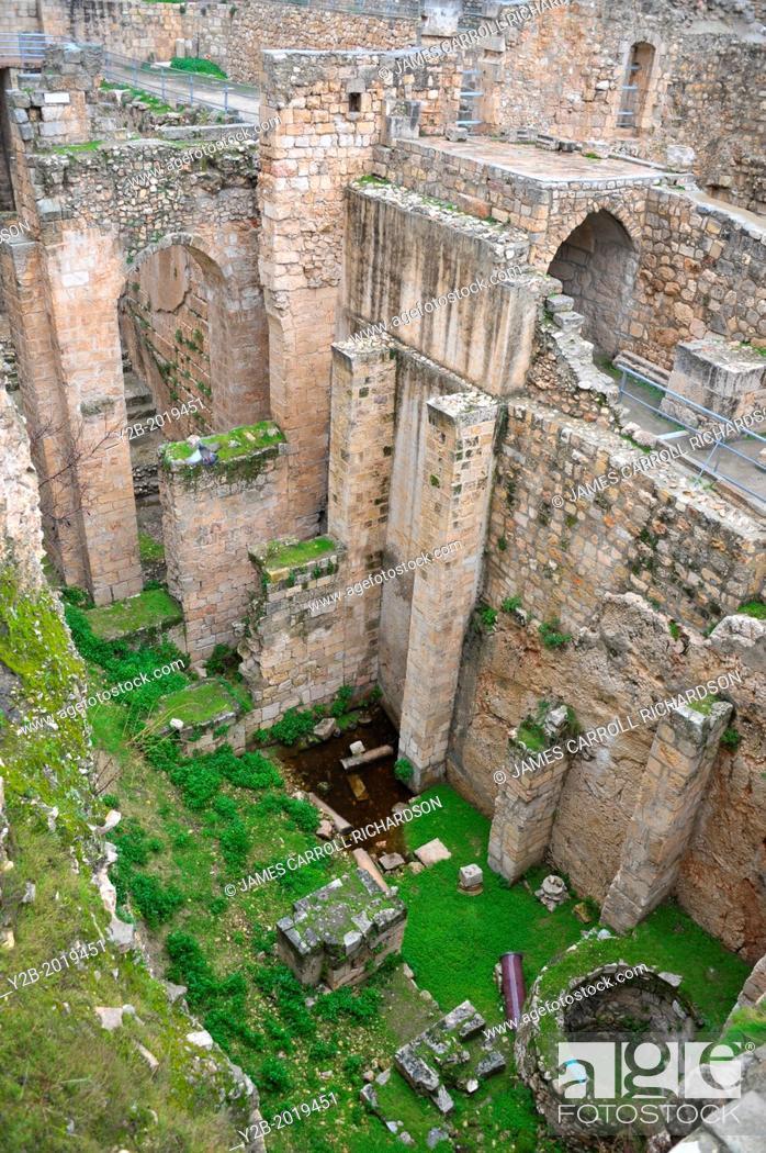 Israel Jerusalem Old City Pool of Bethesda, Stock Photo
