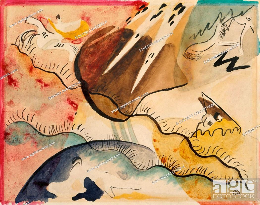 Rain Landscape By Vasily Kandinsky 1911 Russian German Expressionist Drawing Watercolor On Paper Stock Photo Picture And Rights Managed Image Pic Ehh Hisl044 Ec832 H Agefotostock