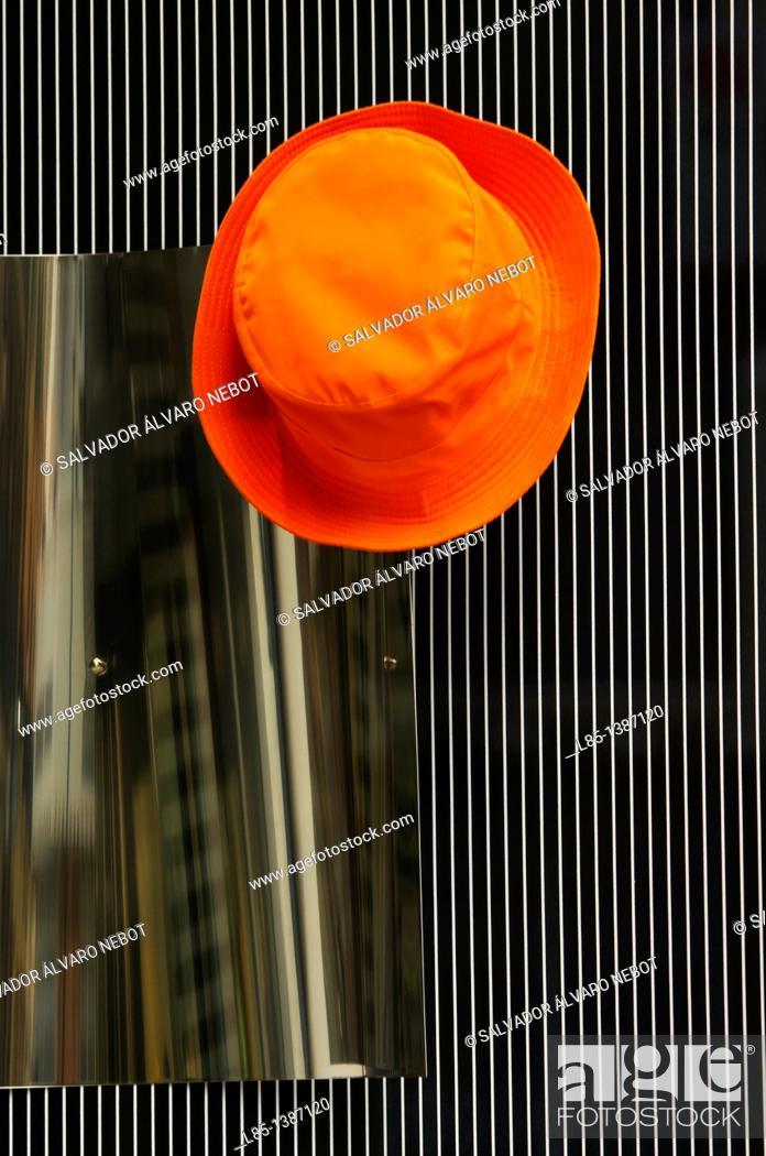 Stock Photo: Orange hat hook.