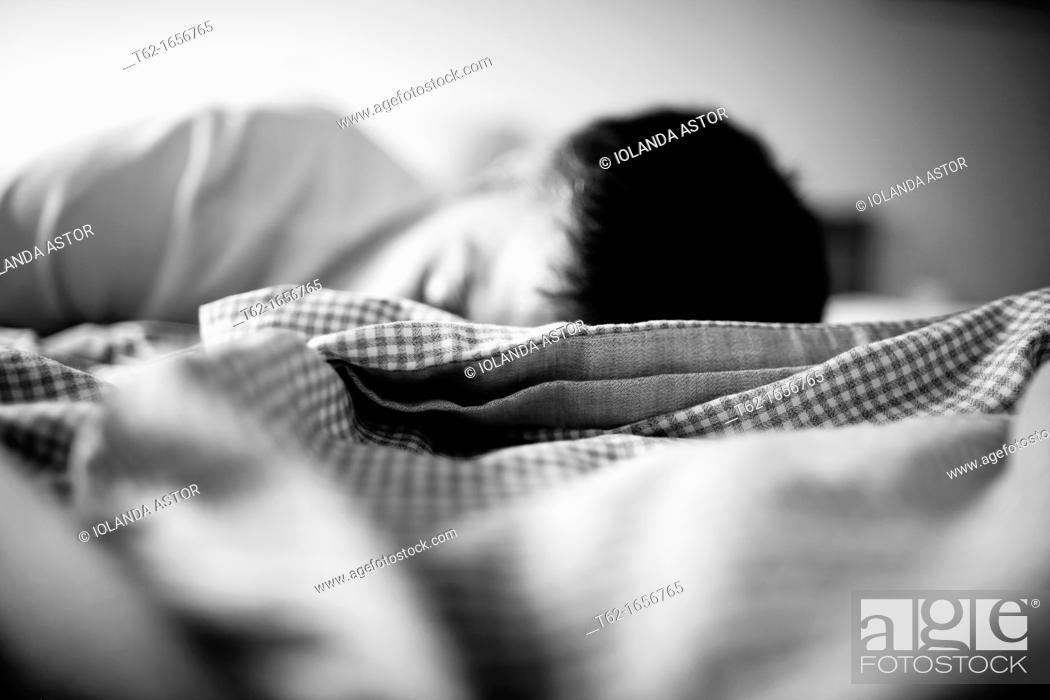 Stock Photo: Woman sleeping.