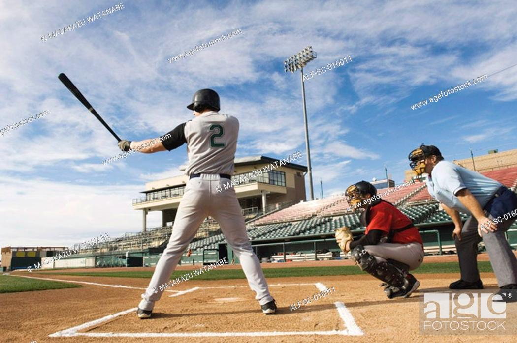 Stock Photo: Batter at home plate.