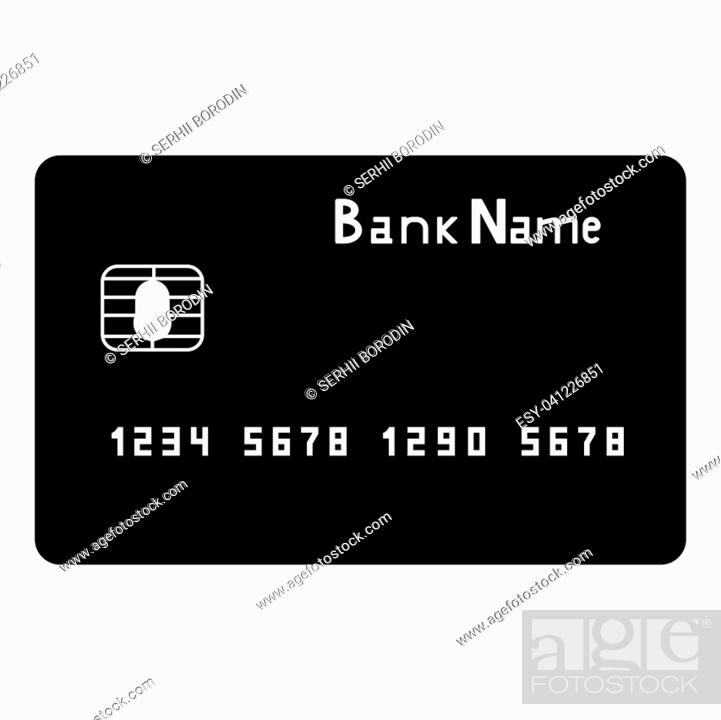 Vector: Bank cit card it is the black color icon .