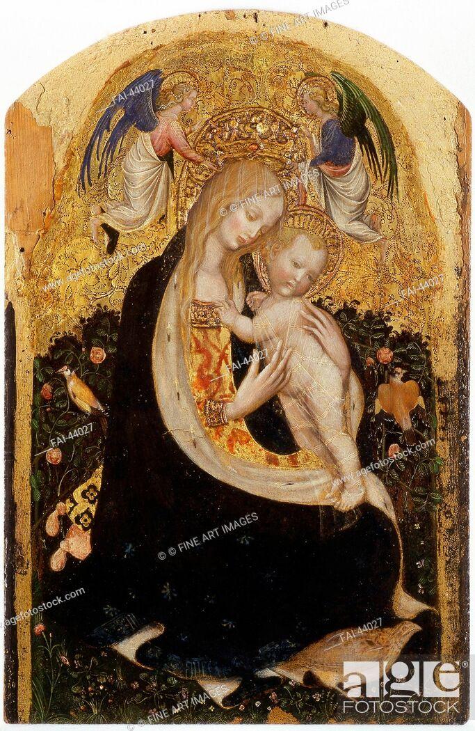 Stock Photo: Madonna of the Quail (Madonna della Quaglia) by Pisanello, Antonio (1395-1455)/Tempera on panel/Gothic/c.1420/Italy, School of Mantua/Museo di Castelvecchio.
