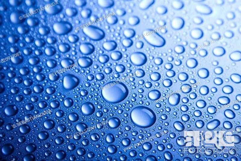 Stock Photo: Blue water drop for background.