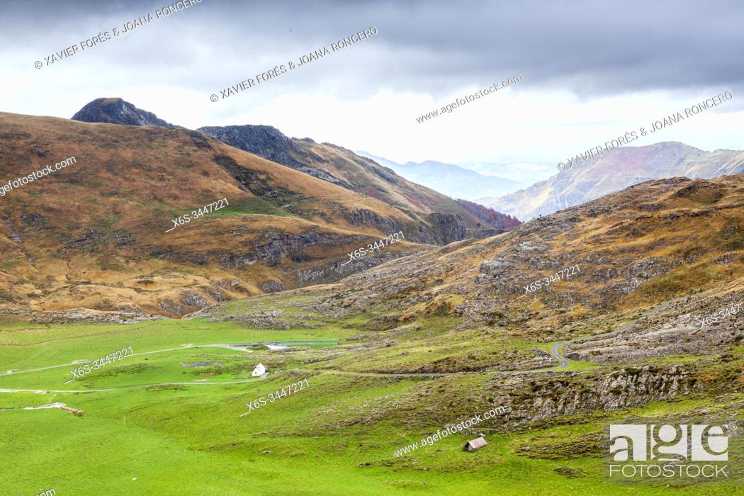 Stock Photo: Roncal Valley in Navarra, Spain.