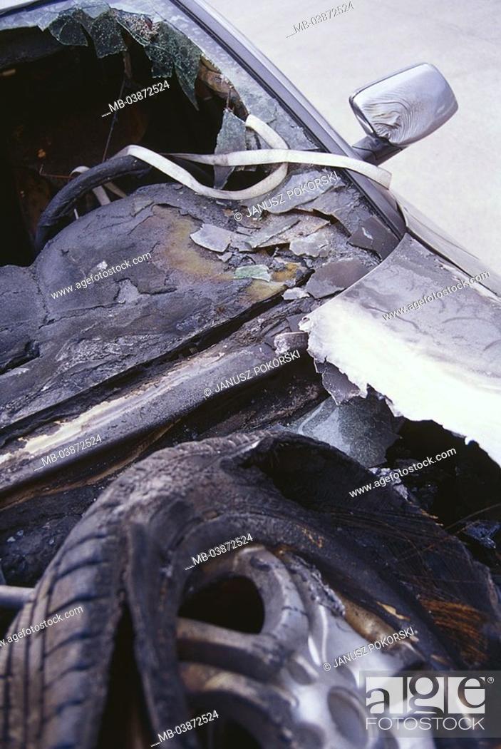 Accident Car Cockpit Detail Cauterized Series Car Private Car