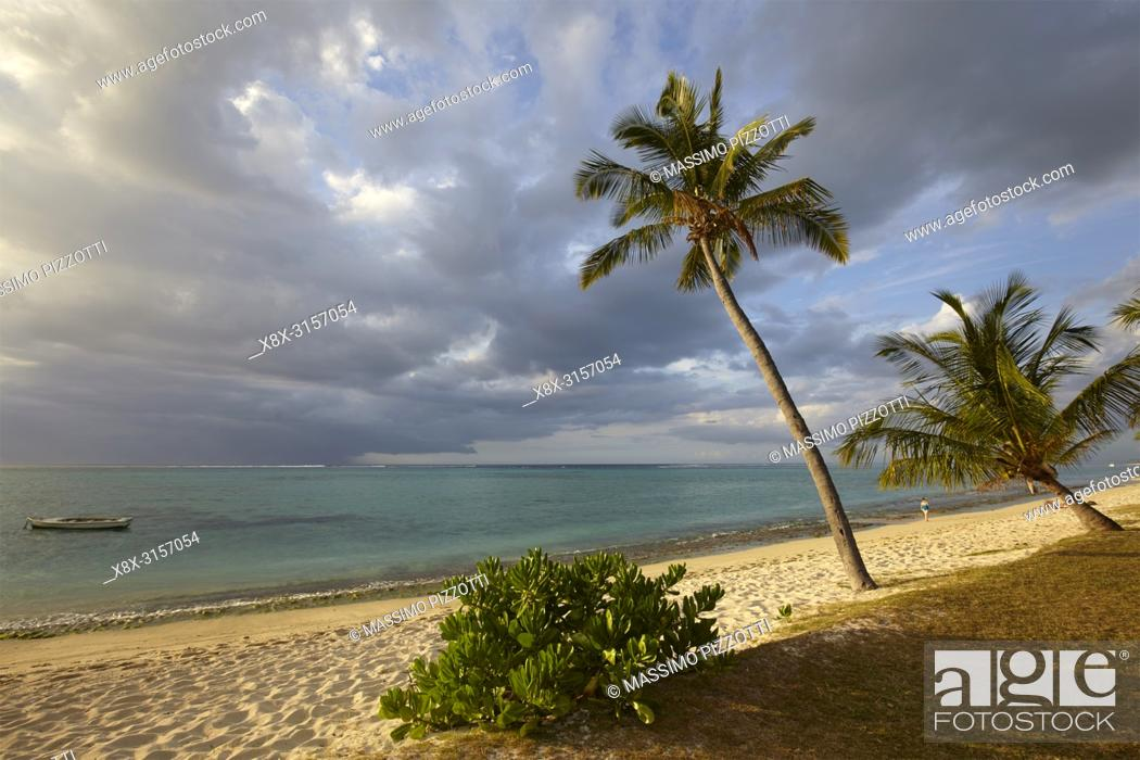 Stock Photo: The beach in Le Morne Brabant, Mauritius.