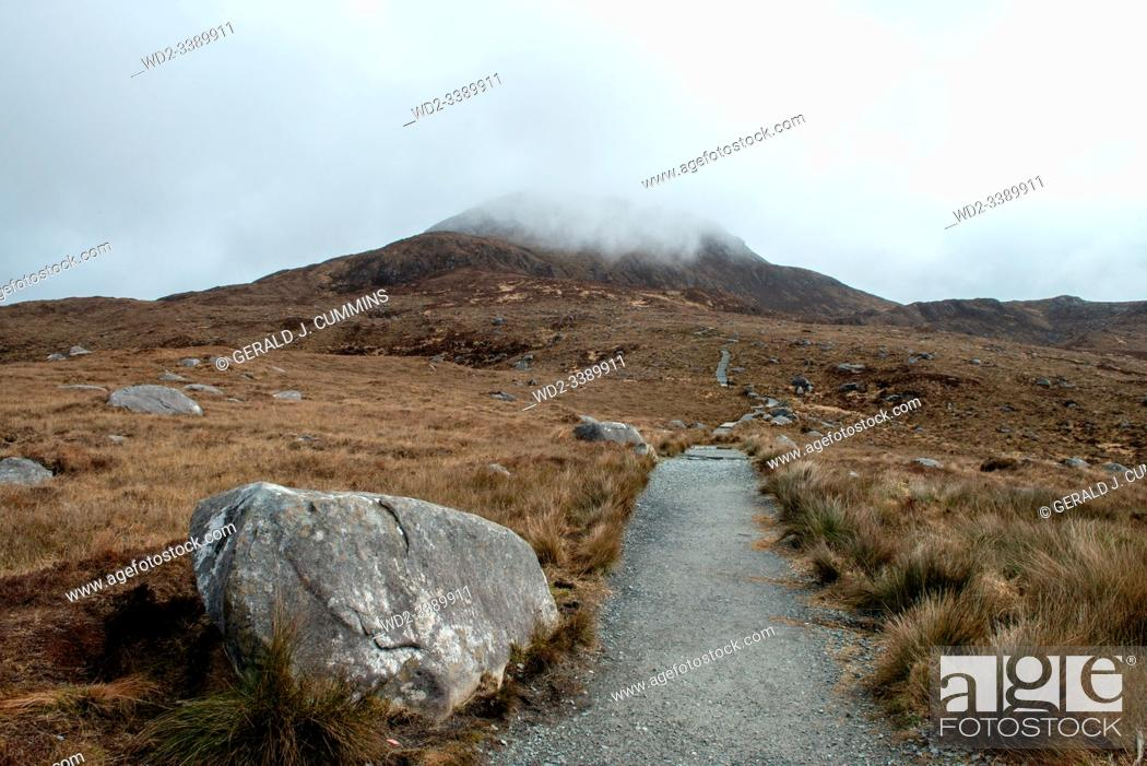 Stock Photo: Ireland, Galway, 2016 Connemara National park 2000 hectars of bog and mountains.