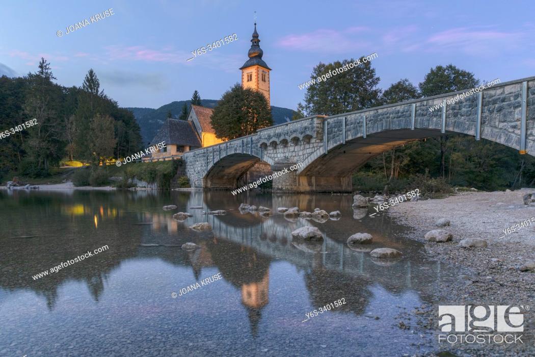 Stock Photo: Lake Bohinj, Gorenjska, Slovenia, Europe.