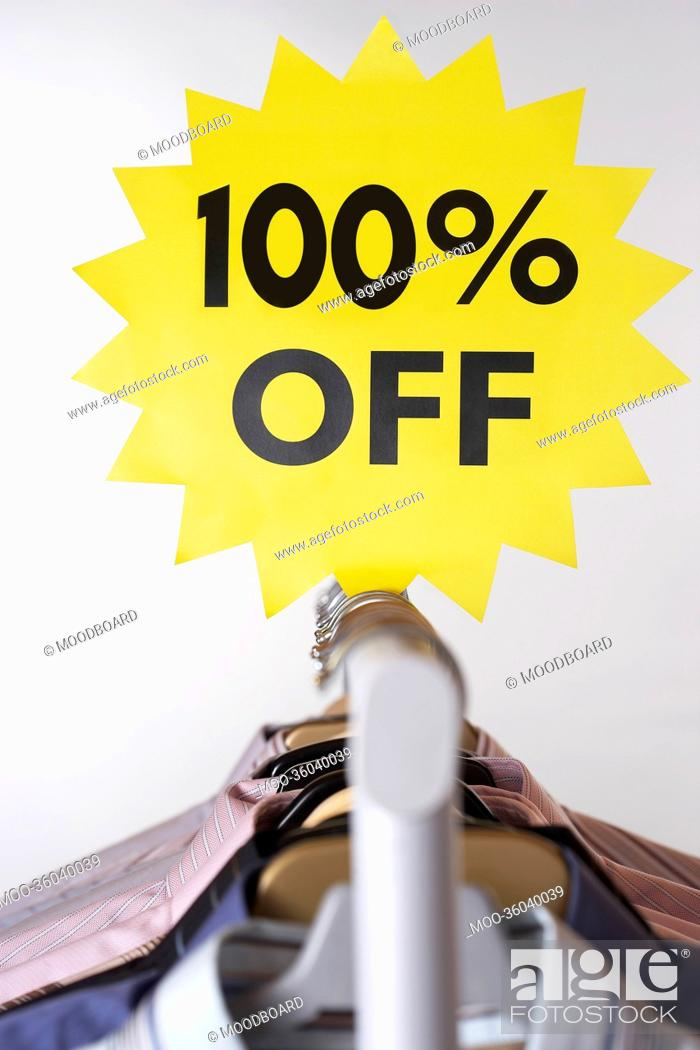 Stock Photo: Clothing on Sale.