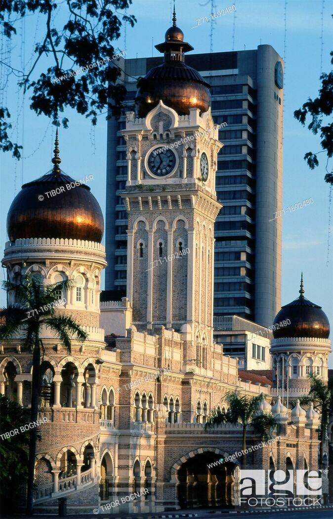 Stock Photo: Malaysia Kuala Lumpur Sultan Abdul Samad Building.