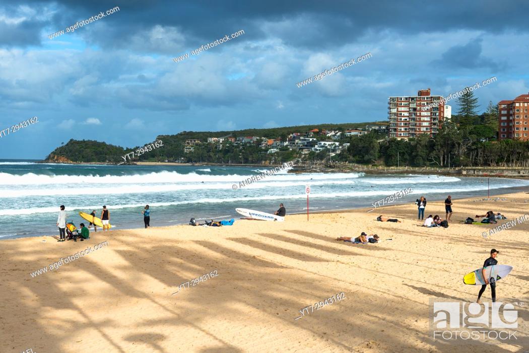 Stock Photo Manly Beach Sydney Australia