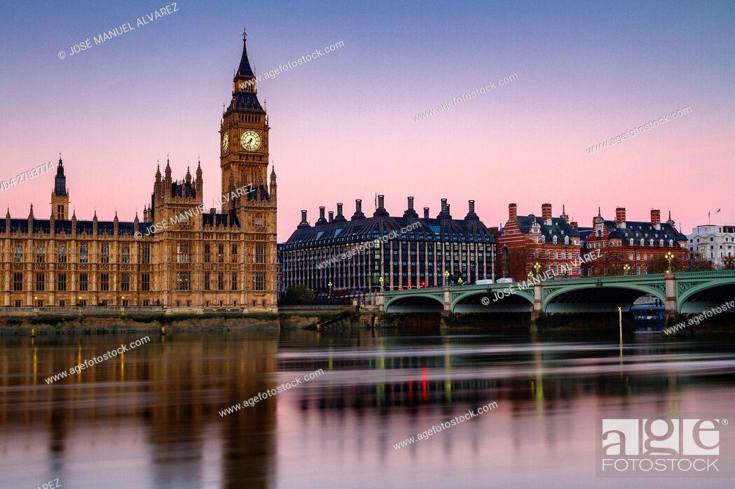 Imagen: Big Ben, Palace of Westminster, Westminster bridge and thames river. London, United Kingdom.