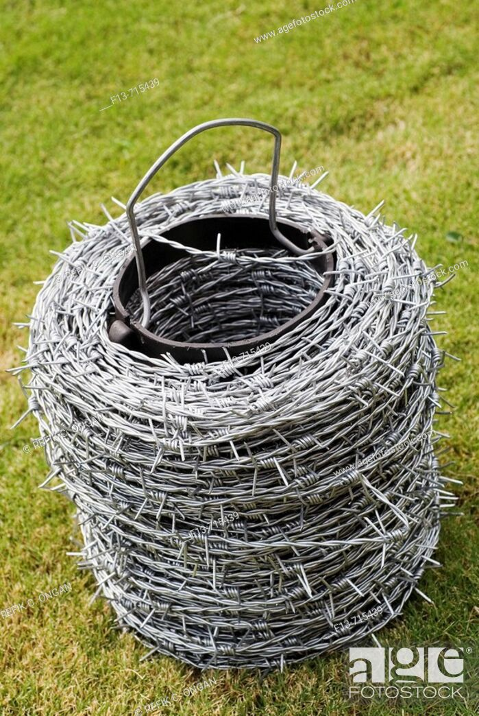 Stock Photo: Wire netting for garden.