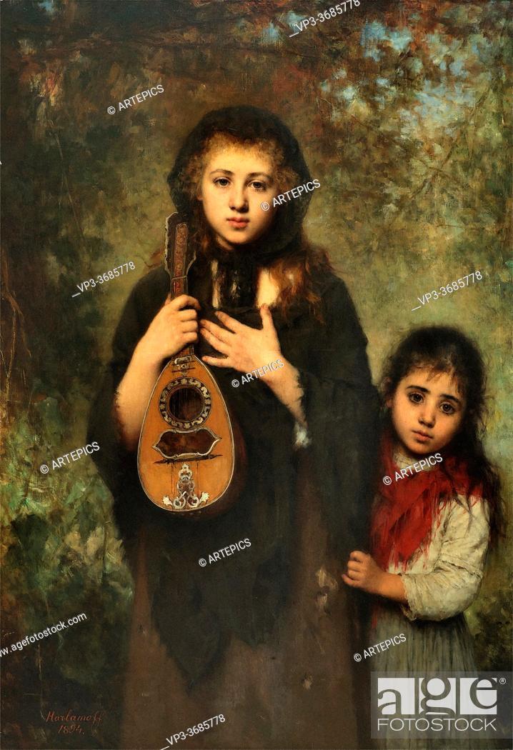 Imagen: Harlamoff Alexei Alexeivich - La Cigale - Russian School - 19th Century.