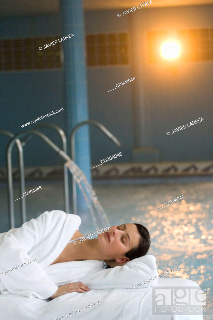 Stock Photo: Thalassotherapy Zelai, Zumaia, Gipuzkoa, Basque Country.