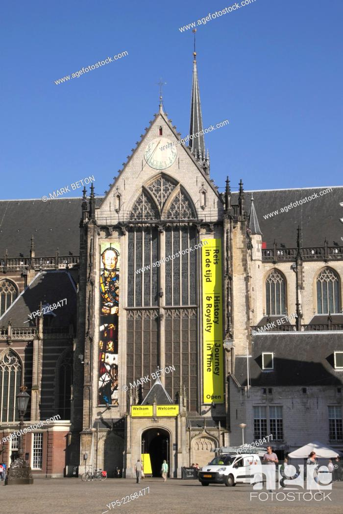 Stock Photo: Nieuwe Kerk Church Dam Square Amsterdam Holland.