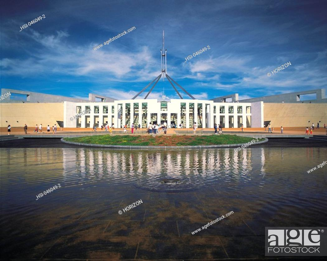 New Parliament house in Canberra, Australia, Stock Photo