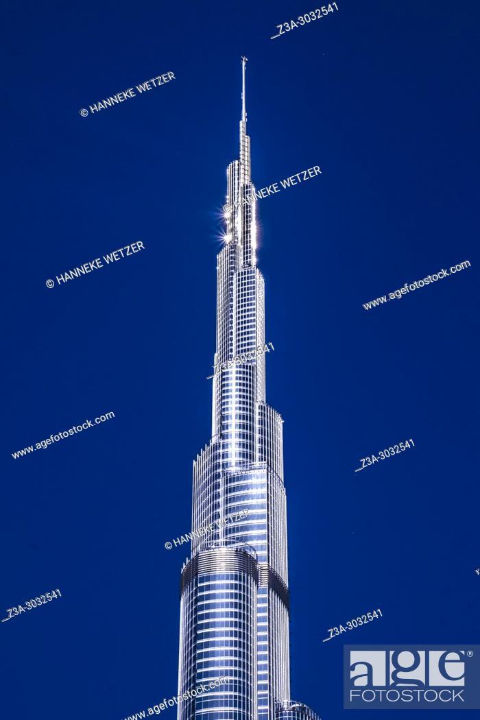 Stock Photo: The Burj Khalifa in Dubai, highest building of the world.