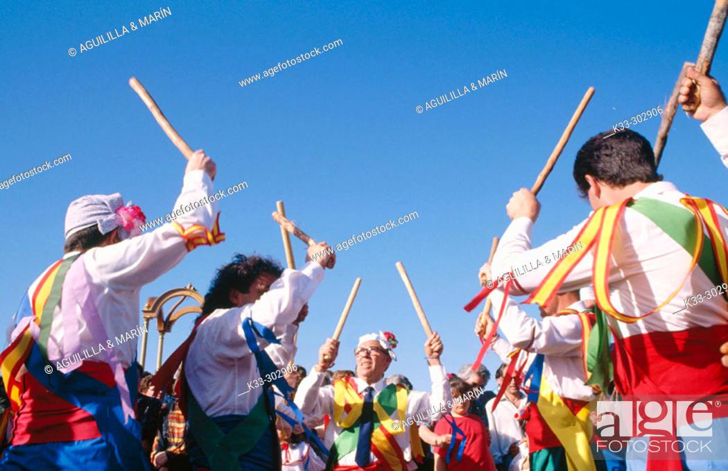 Stock Photo: Dancers. El Hito. Cuenca province. Castilla-La Mancha. Spain.