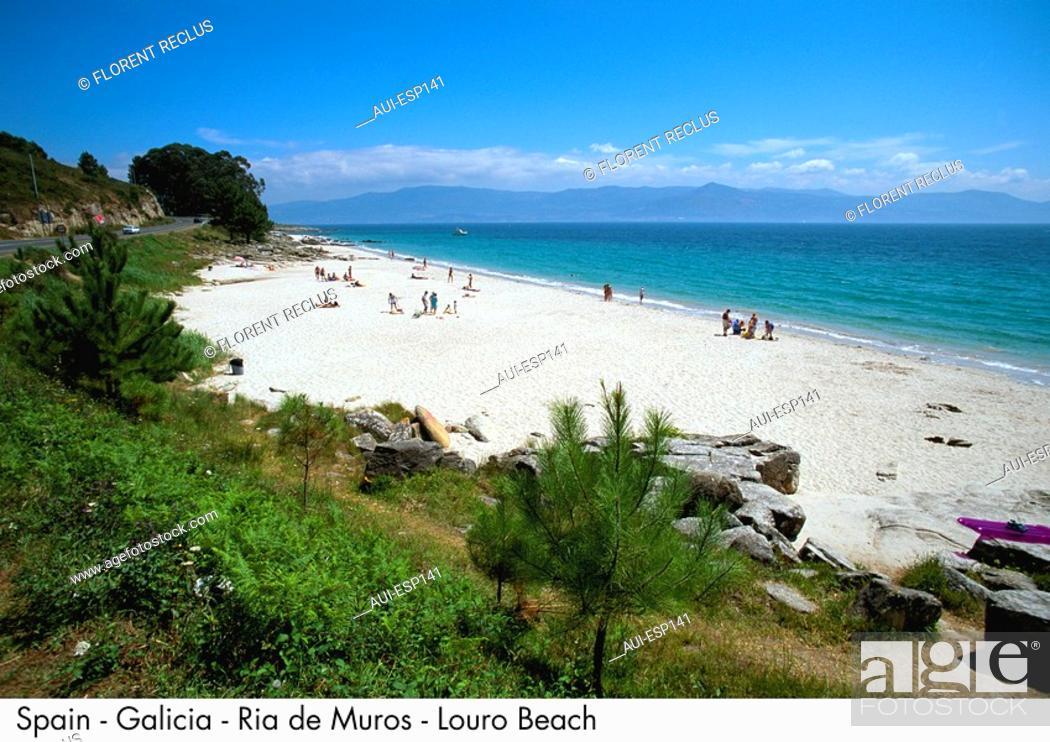 Stock Photo: Spain - Galicia - Ria de Muros - Louro Beach Spain.