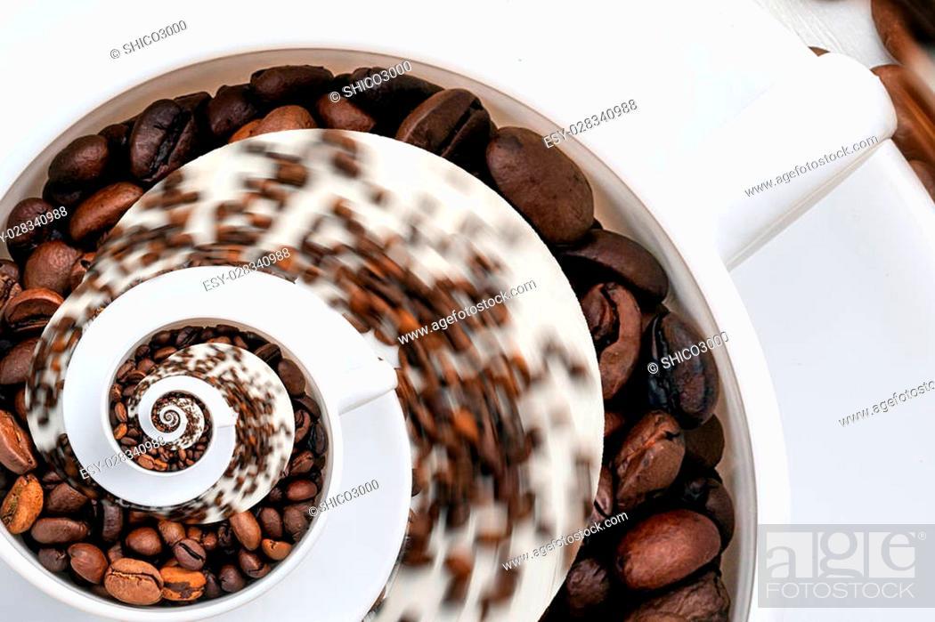 Stock Photo: Abstract Caffeine Addiction Droste Effect.