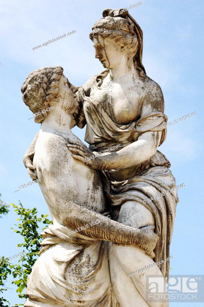 Stock Photo: Statue in park in Vienna, Austria.