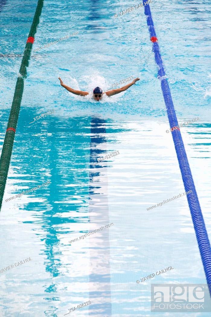 Stock Photo: Swimming.