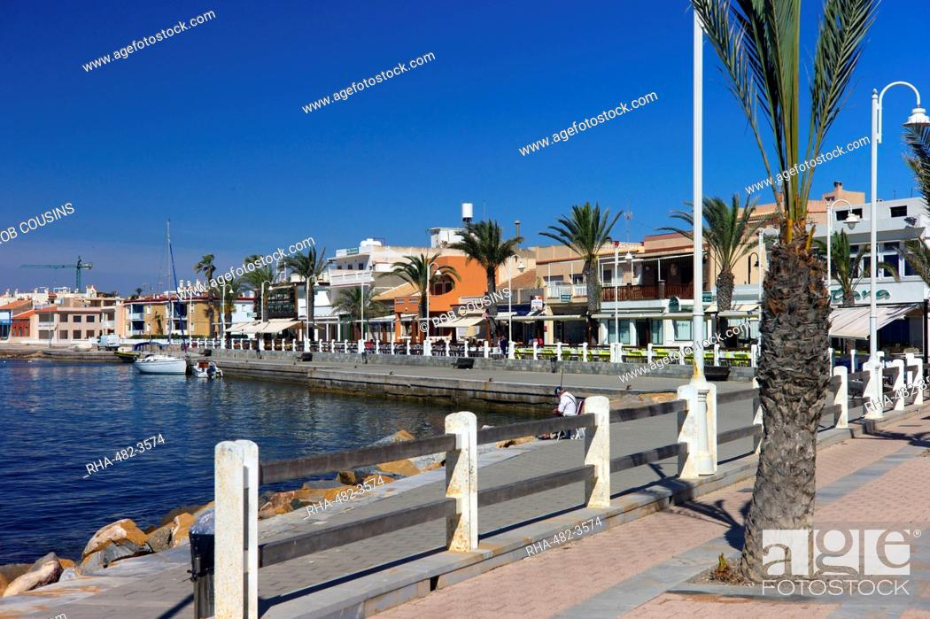 Stock Photo: The harbour at Cabo de Palos, Murcia, Spain, Mediterranean, Europe.