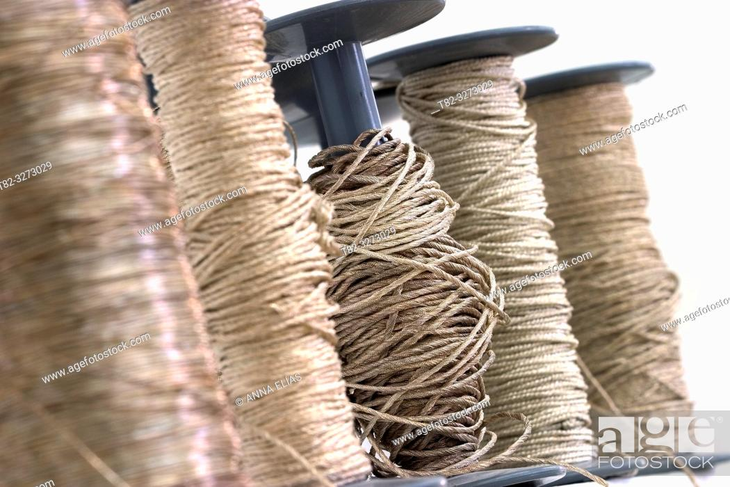 Stock Photo: Gold and silver thread spools for cofrade crafts, Holy Week, Andalusia, Spain.