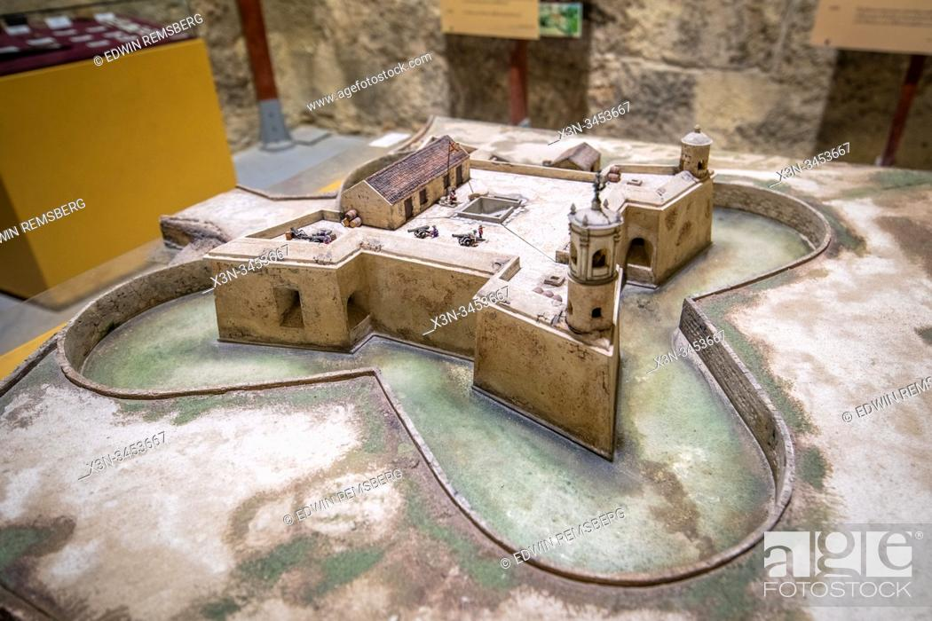 Photo de stock: A scale replica of Castillo de la Real Fuerza on display in its museum , Havana, Cuba.